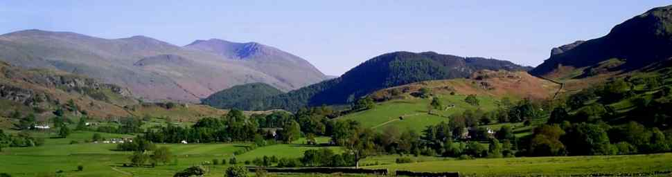 view of Helvellyn from Low Nest Farm